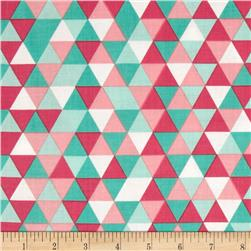 Riley Blake The Cottage Garden Triangles Teal