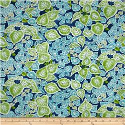 Paradise Scalloped Leaves Royal Fabric