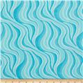 Cotton Candy Flannel Wavy Stripe Aqua