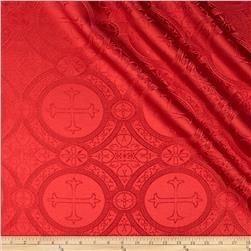 Clergy Brocade Red Fabric