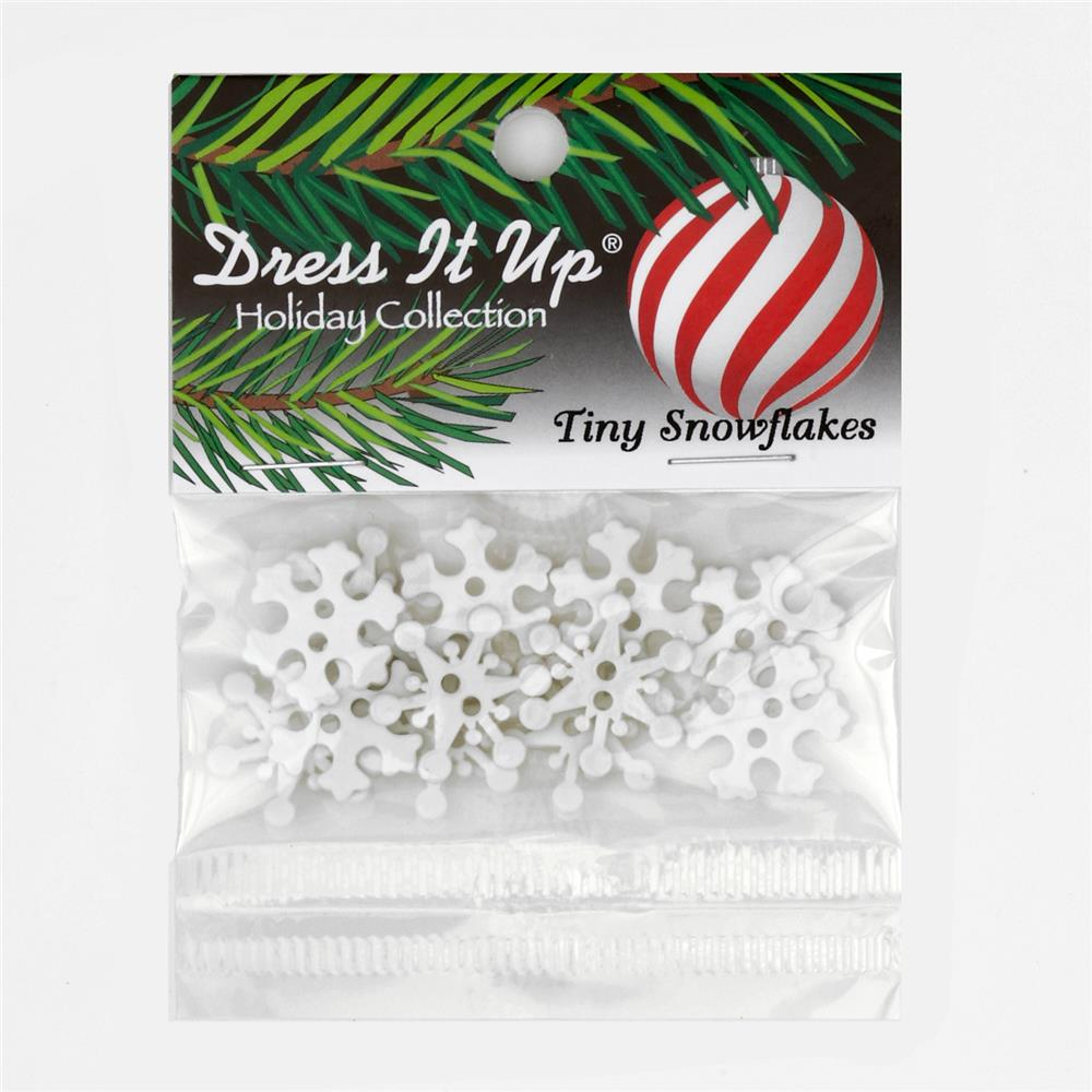 Dress It Up Embellishment Buttons  Tiny Snowflakes