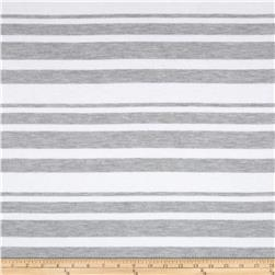 Designer Pique Knit Stripes Grey/White