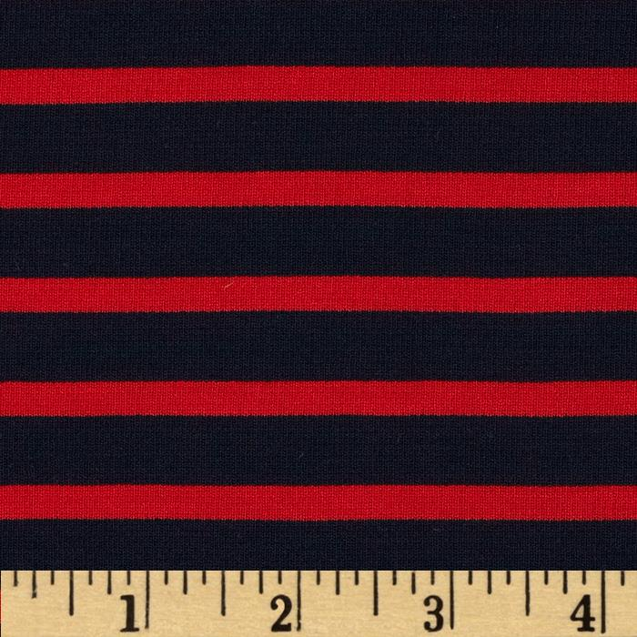 Telio St. James Stripe Double Knit Red/Navy