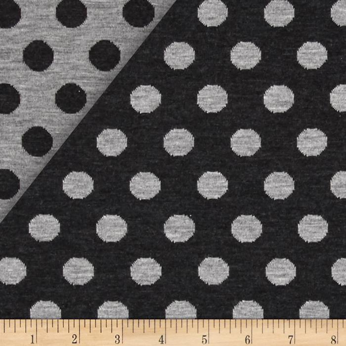 Telio Reversible Double Dot Knit Grey