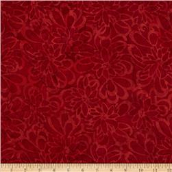 Timeless Treasures Tonga Batik Sunburst Amaryllis Scarlet