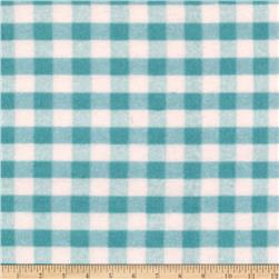 Riley Blake Flannel Basics Gingham Medium Aqua