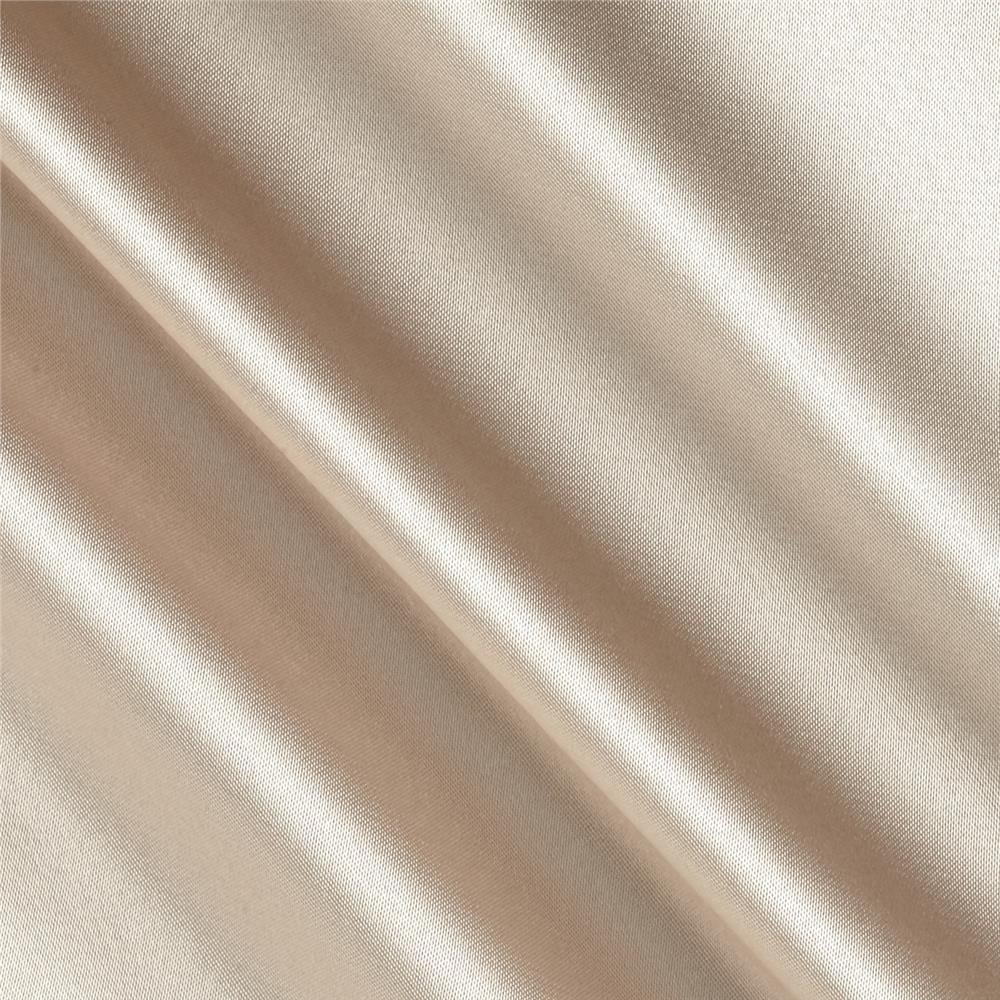 Silky Satin Charmeuse Solid Taupe Fabric