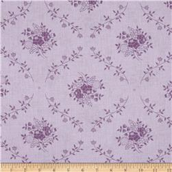 "108"" Wide Quilt Back Fleur Purple"