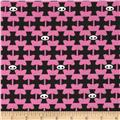 Skelanimals Skel Life Check Black/Pink