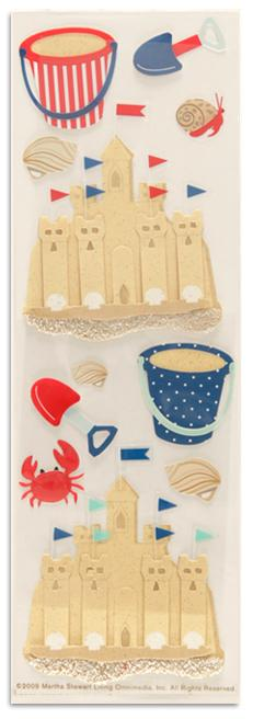 Martha Stewart Crafts Stickers Nautical Sand Castle