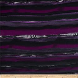 Tissue Hatchi Sweater Knit Blended Stripe Purple/Black