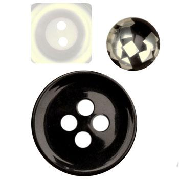 Fashion Buttons 5/8'', 7/8'', 1 1/4'' Coordinates Black/White