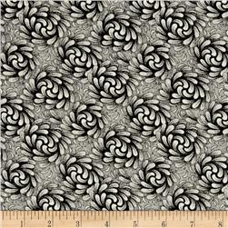 Timeless Treasures Fashion Sense Swirls Reverse Black