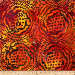 Indian Batiks Abstract Orange