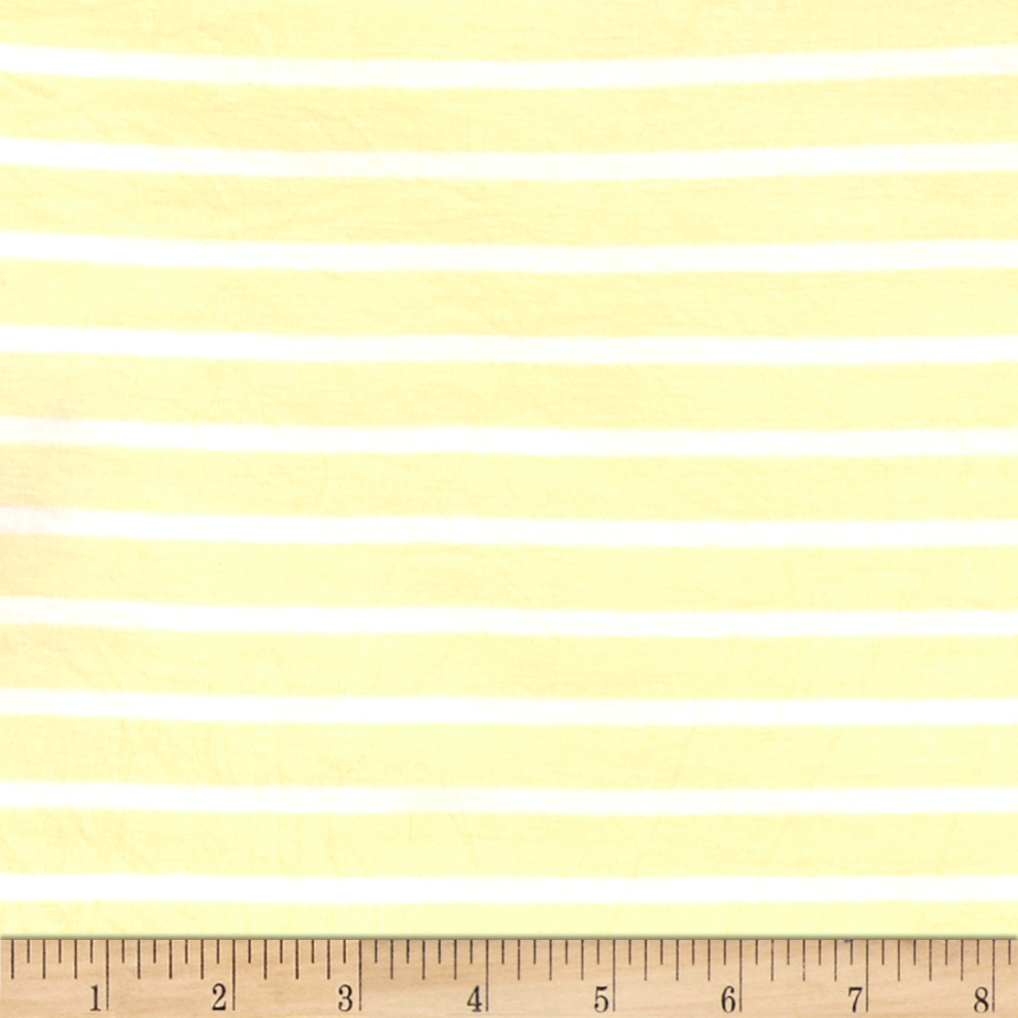 Rayon Spandex Jersey Knit Stripes Banana/ivory Fabric