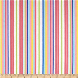 Starry Night Glitter Stripe Pastels/White