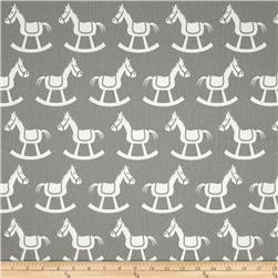 Premier Prints Rocking Horse Twill Storm/White
