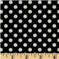 Riley Blake Le Creme Basics Small Dots Black/Cream