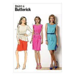 Butterick Misses' Dress Pattern B6014 Size A50