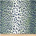 Nylon Lycra Jersey Knit Swimwear Animal Cheetah Green/Navy/White