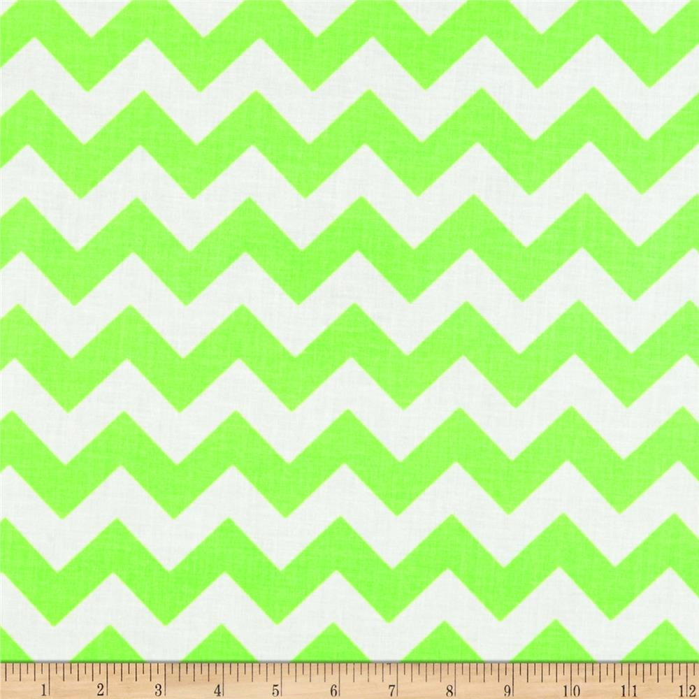 Riley Blake Laminate Chevron Neon Green