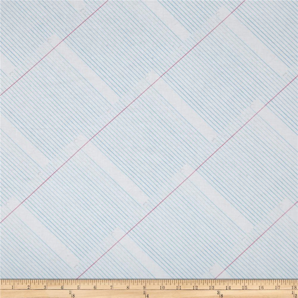 Paper Obsessed College Ruled Paper Discount Designer Fabric – Print College Ruled Paper