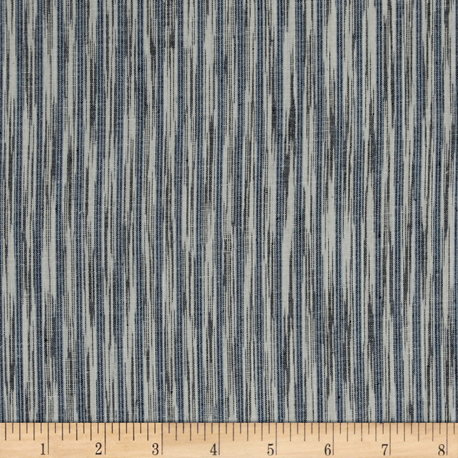 Dream Weaves Woven Ikat Denim White Fabric by Andover & Makower in USA