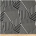 Marni Scuba Knit Abstract Stripe Black/White