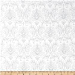 Black, White & Currant 5 Damask White