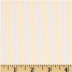 Kaufman Oxford Yarn Dyed Small Stripe Yellow Fabric
