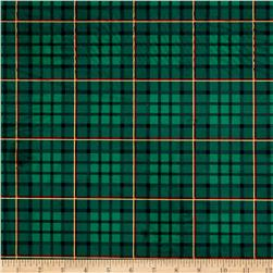 Michael Miller Minky Nutcracker Plaid Evergreen
