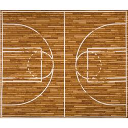 Sports Life Basketball Court Panel Brown