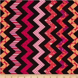 Chevron Chic Patterned Chevron Black/Fuchsia