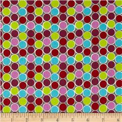 Moderne Dot Grid Violet Fabric