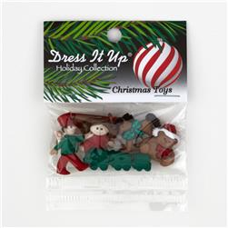 Dress It Up Embellishment Buttons  Christmas Toys