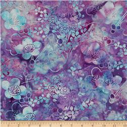 Bali Batiks Handpaints Asian Floral Punch