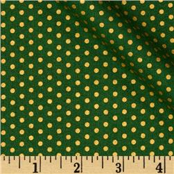 Kaufman Spot On Metallic Pindot Jungle Fabric