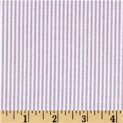 Kaufman Oxford Yarn Dyed Small Stripe Grape Fabric