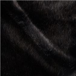 Tissavel Luxury Faux Fur Siberia Black Fabric