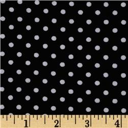 Cotton Spandex Jersey Knit Dots Black/White