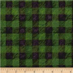 Lodge Life Flannel Buffalo Plaid Green