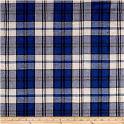 Yarn Dyed Flannel Plaid Blue/Cream