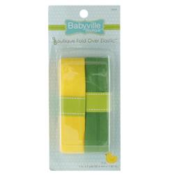 Babyville Boutique Fold Over Elastic Yellow/Green