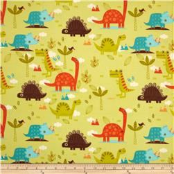 Riley Blake Dinosaur Flannel Main Green Fabric