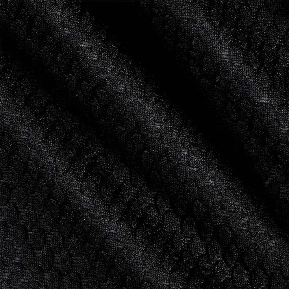 Honeycomb Double Knit Black