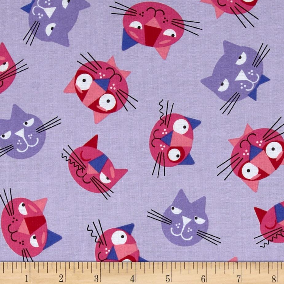 Whiskers & Tails Cats Allover Violet