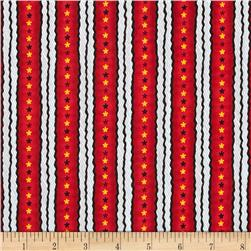 Snoopy Flying Ace Star Stripe Red