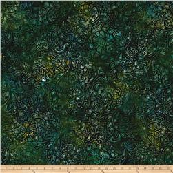 Kaufman Regal Batiks Geo Floral Teal