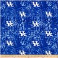 Collegiate Cotton Broadcloth University of Kentucky Tie Dye Print Navy