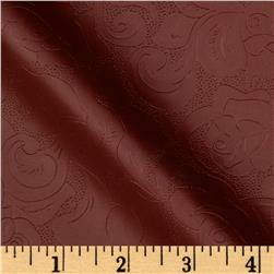 Maverick Faux Leather Red Fabric